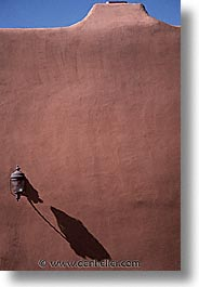 america, architectures, desert southwest, indian country, new mexico, north america, santa fe, sconces, shadows, southwest, united states, vertical, western usa, photograph