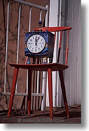 america, chairs, clocks, desert southwest, indian country, new mexico, north america, santa fe, southwest, united states, vertical, western usa, photograph