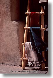 america, cloths, desert southwest, indian country, ladder, new mexico, north america, santa fe, southwest, united states, vertical, western usa, photograph