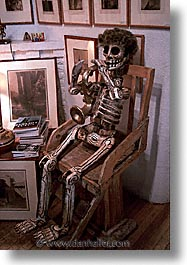 america, desert southwest, indian country, new mexico, north america, santa fe, sitting, skeleton, southwest, united states, vertical, western usa, photograph