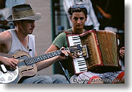 accordion, america, guitars, horizontal, new orleans, north america, united states, photograph