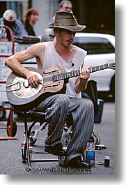 america, guitars, new orleans, north america, players, united states, vertical, photograph