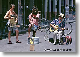 america, horizontal, musicians, new orleans, north america, threes, united states, photograph