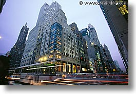 america, avenue, horizontal, motion blur, new york, new york city, north america, stores, united states, warner, photograph