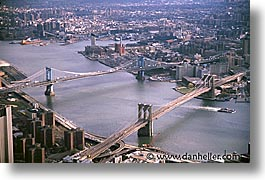 aerials, america, bridge, brooklyn bridge, horizontal, new york, new york city, north america, united states, photograph