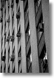 america, black and white, buildings, new york, new york city, north america, united states, vertical, walls, photograph
