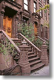 america, brownstones, buildings, new york, new york city, north america, united states, vertical, photograph