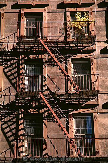 Fire Escape New York City 1940s : Fire escape