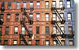 america, buildings, escapes, fire, horizontal, new york, new york city, north america, united states, photograph