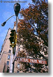 america, central park, new york, new york city, north america, park, signs, united states, vertical, photograph