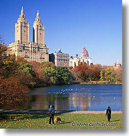 america, central park, double, new york, new york city, north america, square format, towers, united states, photograph