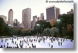 america, central park, horizontal, new york, new york city, north america, rink, united states, wollman, photograph