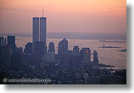 america, cityscapes, dusk, horizontal, new york, new york city, north america, united states, photograph