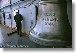 america, bells, horizontal, intrepid, new york, new york city, north america, united states, photograph