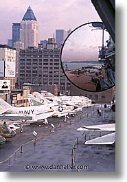america, intrepid, new york, new york city, north america, planes, united states, vertical, photograph