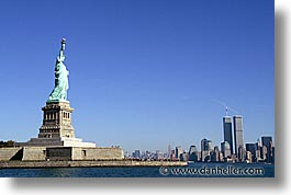 america, cities, horizontal, liberty, new york, new york city, north america, statues, united states, photograph
