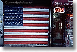 america, atm, flags, horizontal, new york, new york city, north america, united states, photograph