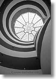 america, black and white, guggenheim, museums, new york, new york city, north america, united states, vertical, photograph