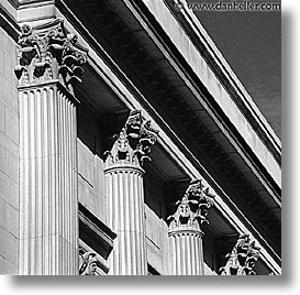 america, black and white, columns, met, museums, new york, new york city, north america, square format, united states, photograph