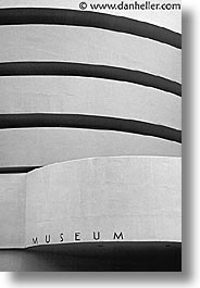 america, black and white, museums, new york, new york city, north america, title, united states, vertical, photograph
