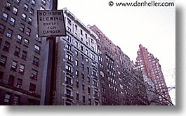 america, horizontal, horns, neighborhoods, new york, new york city, north america, signs, united states, photograph