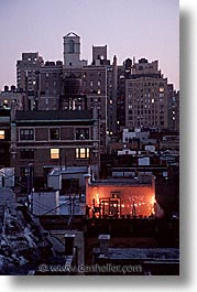 america, balconies, christmas, neighborhoods, new york, new york city, north america, united states, vertical, photograph