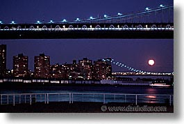 america, bridge, horizontal, manhattan, new york, new york city, nite, north america, united states, photograph