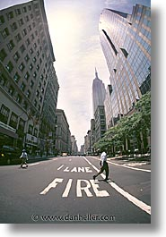 america, crossing, fisheye, new york, new york city, north america, streets, united states, vertical, photograph