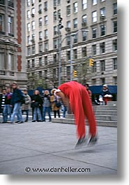 america, new york, new york city, north america, roller, streets, tricks, united states, vertical, photograph