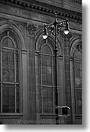 america, black and white, lamps, new york, new york city, north america, streets, united states, vertical, photograph