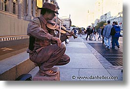 america, horizontal, new york, new york city, north america, statues, streets, united states, violinists, photograph