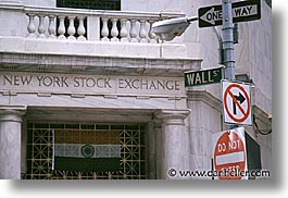 america, horizontal, new york, new york city, north america, nyse, signs, united states, wall street, photograph