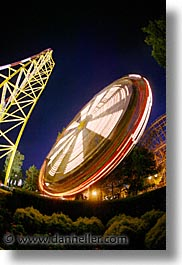 america, amusement park, cedar point, coaster, fisheye lens, fun, games, north america, ohio, rides, roller, sandusky, slow exposure, united states, vertical, photograph