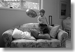 america, ashland, balloons, black and white, couch, horizontal, jacks, north america, oregon, people, united states, photograph