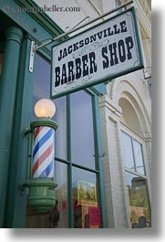 america, ashland, barbers, north america, oregon, shops, signs, united states, vertical, photograph