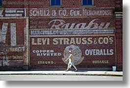 america, arts, ashland, bricks, horizontal, levis, materials, murals, north america, oregon, paintings, signs, strauss, united states, photograph