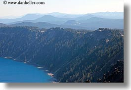 america, crater, crater lake, crater rim, geology, horizontal, lakes, nature, north america, oregon, rim, united states, water, photograph
