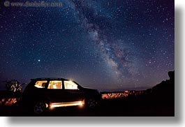 america, cars, crater lake, galaxy, horizontal, interiors, lights, long exposure, milky, milky way, nite, north america, oregon, stars, united states, way, photograph