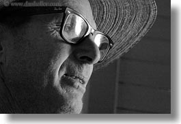 america, black and white, clothes, dale, glasses, halfway, hats, horizontal, north america, oregon, straw hat, united states, photograph