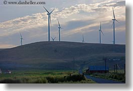 america, barn, horizontal, landscapes, north america, oregon, scenics, united states, windmills, photograph