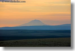 america, horizontal, mt hood, north america, oregon, scenics, silhouettes, sunsets, united states, photograph