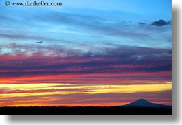 america, horizontal, mt jefferson, north america, oregon, scenics, sunsets, united states, photograph