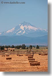 america, bales, hay, mt jefferson, north america, oregon, scenics, united states, vertical, photograph