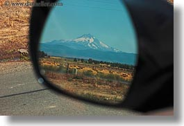 america, horizontal, mirrors, mt jefferson, north america, oregon, rearview, scenics, united states, photograph
