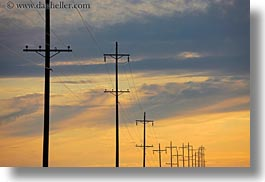 america, clouds, horizontal, north america, oregon, scenics, sunsets, telephone wires, telephones, united states, weather, wires, photograph