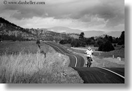 activities, america, bike path, biking, black and white, boys, bryce canyon, childrens, clouds, horizontal, jacks, long, nature, north america, paths, people, sky, united states, utah, western usa, photograph