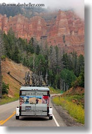 america, backroads, bryce canyon, landscapes, mountains, nature, north america, trailer, united states, utah, vertical, western usa, photograph