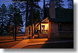america, bryce canyon, cabins, horizontal, long exposure, nite, north america, united states, utah, western usa, woods, photograph