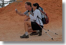 america, bryce canyon, cameras, couples, horizontal, north america, people, united states, utah, western usa, photograph