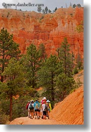 america, boys, bryce canyon, canyons, childrens, clothes, crowds, hats, hiking, jacks, north america, people, united states, utah, vertical, western usa, photograph